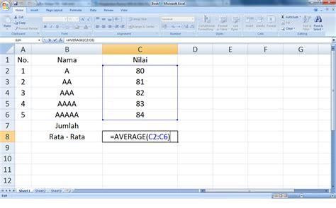 Rumus Microsoft Excel education menjalankan rumus sum average pada ms excel