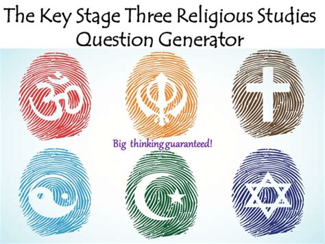 Or Question Generator The Key Stage Three Religious Studies Question Generator By Mikegershon Teaching Resources Tes