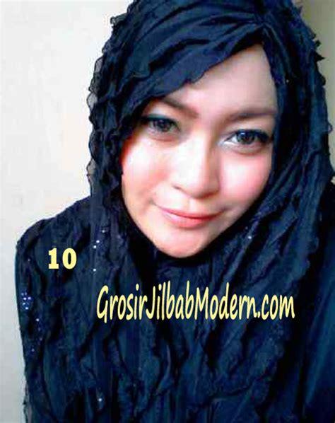 Jilbab Instan Kerudung Syiria Ruffle jilbab syrpash ruffle sparkling no 10 hitam grosir
