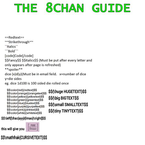 8chan mom handy guide on how to use special text for 8chan 8chan