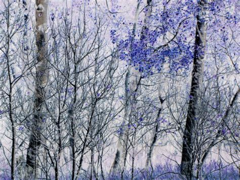 blue and white painting miscellaneous blue and white art print aspens