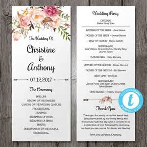 Program Template For Wedding by 17 Best Ideas About Bohemian Weddings On