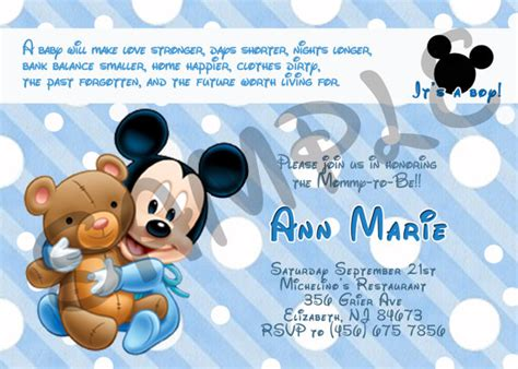 mickey mouse invitations baby shower mickey mouse baby shower invitation by eqpartyinvitations
