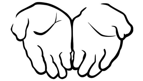 coloring pages of two hands open praying hands coloring page clipart best