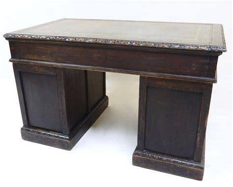 Small Pedestal Desk Small Oak Pedestal Desk Antiques Atlas
