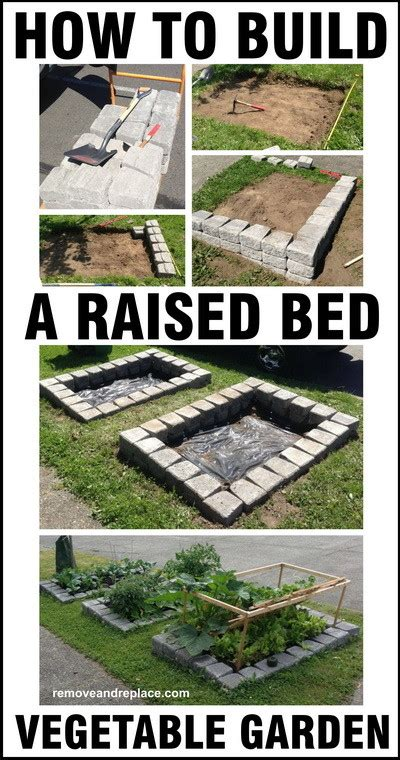 how to build a vegetable garden how to build a raised bed vegetable garden diy removeandreplace