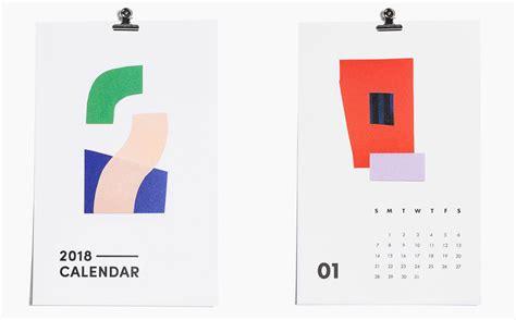 design milk modern calendars 15 modern calendars for 2018 design milk
