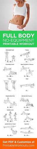 printable workout to customize and print ultimate at home