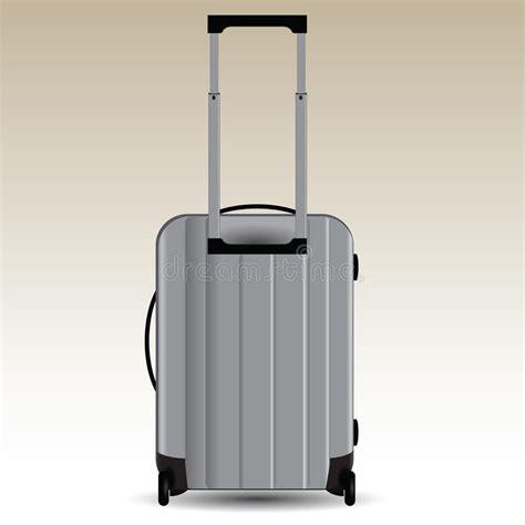 sulle ruote valigia sulle ruote illustrazione vettoriale