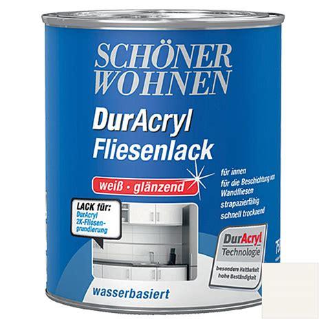 duracryl fliesenlack farben sch 246 ner wohnen duracryl fliesenlack wei 223 750 ml