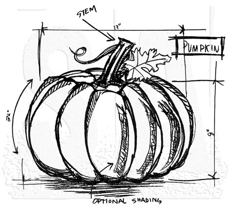 pumpkin sketches tim holtz wood mounted st pumpkin sketch u2 2174