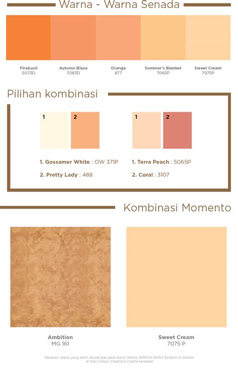 nippon paint indonesia the coatings expert warm colour palette