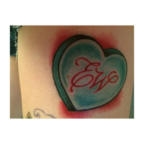 candy heart tattoo tattoos
