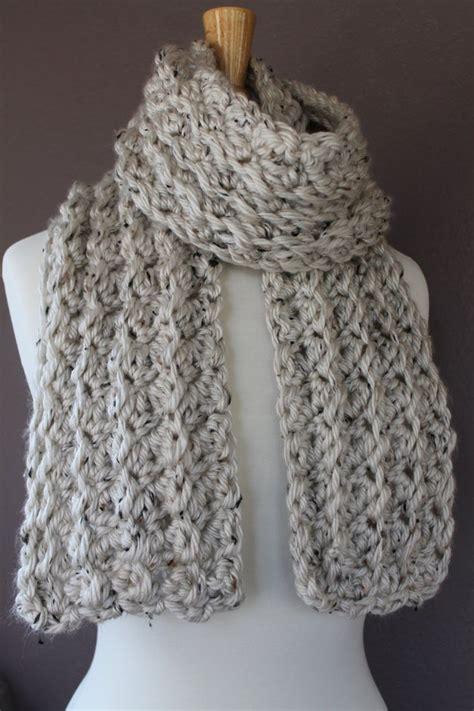 crochet scarf easy ideas  pinterest