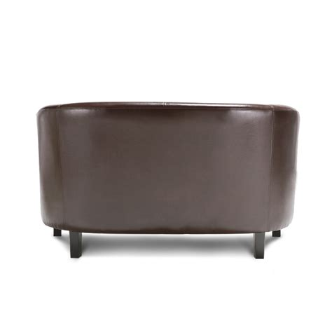 sofas r us red ikayaa contemporary tub shaped pu leather loveseat