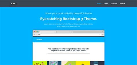 flat template bootstrap 50 free bootstrap templates themes