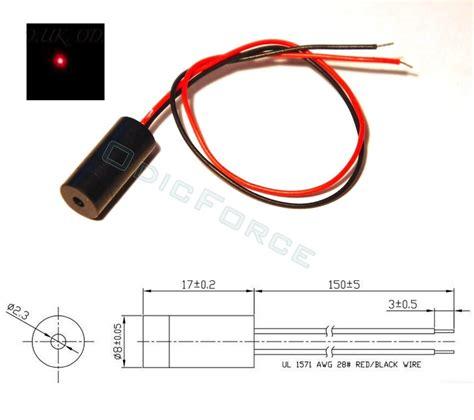 class 2 laser diode module 1mw 635nm focusing laser module 8mm odicforce