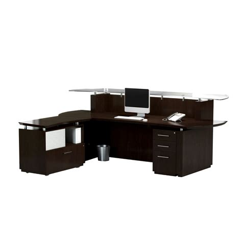 mayline reception desk mayline sterling reception desk with return and peds 3 colors new office resource