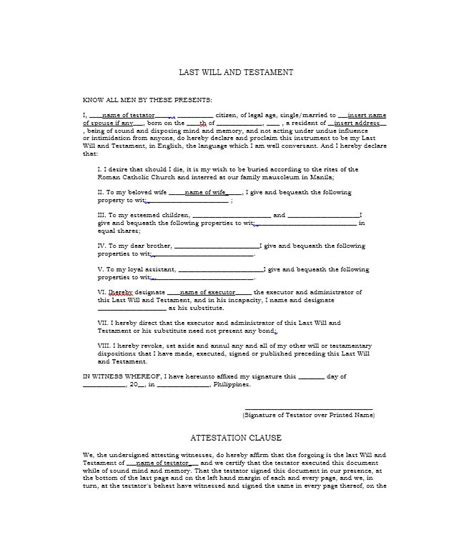 write a will template 39 last will and testament forms templates template lab