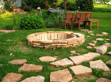 In Ground Fire Pit Ideas Patio Contemporary With Backyard Pit Landscaping