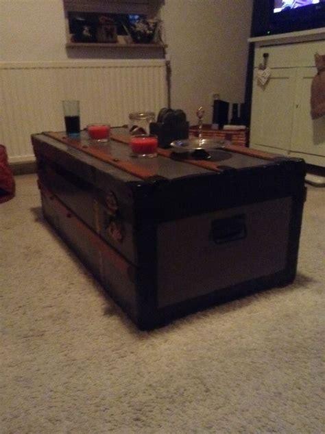 oude kist als salontafel opgeknapte kist als salontafel home made meubels