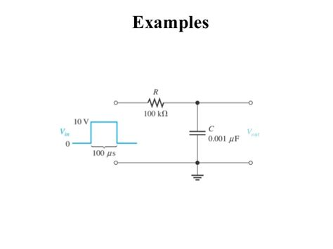 integrator circuit exle rc and rl differentiator and integrator circuit