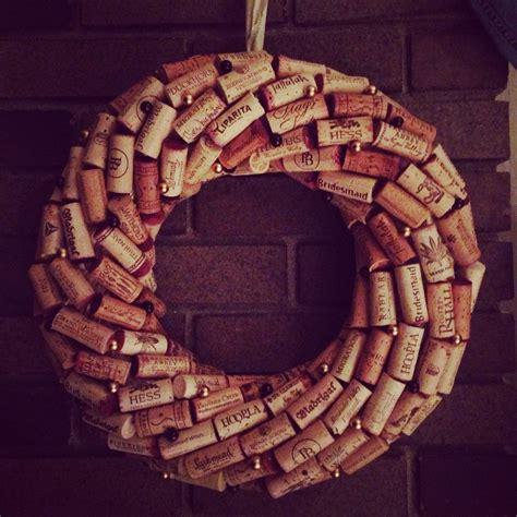wine cork wreath liza s board