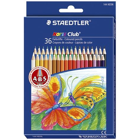 staedtler colored pencils staedtler noris club coloured pencils 36 pack officeworks