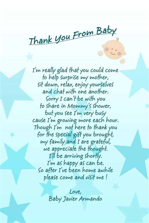 Baby Shower Poem For Boy by Simple Baby Shower Thank You Poems Baby Shower Ideas