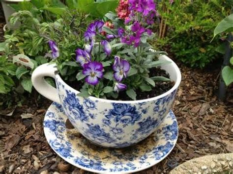 giant teacup planter gardening and landscape