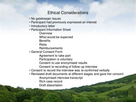 Research Gatekeeper Letter ecotherapy research presentation slides ukcp research