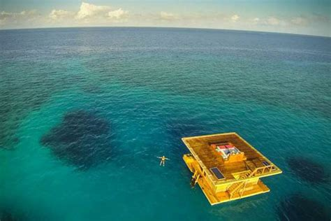 floating hotel room underwater floating hotel room at manta resort hiconsumption
