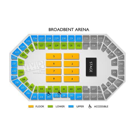 broadbent arena seating chart seats
