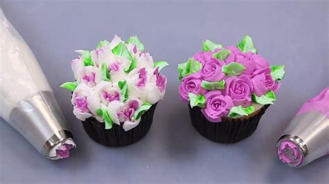 flower decorating tips using russian tips how bout cupcakes pinterest