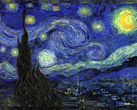 starry night vincent van gogh wallpaper starry night fra angelico