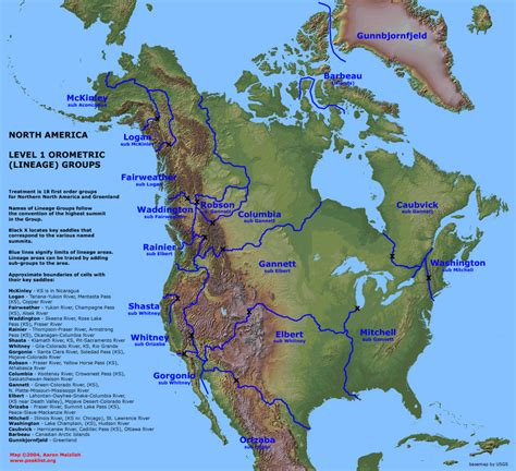 map of america showing mountains america mountains map