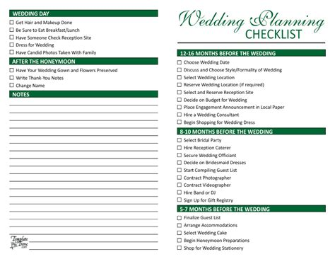 Wedding Planning Checklist Wedding Planner Template