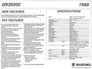 Suzuki Specifications Suzuki Dr350 Model History