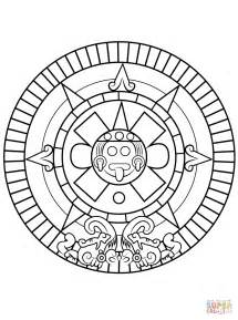 aztec colors aztec calendar printable calendar template 2016