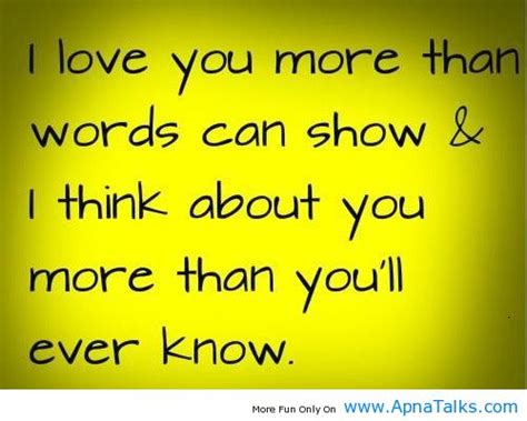 i love you more than you know love you more than you know quotes