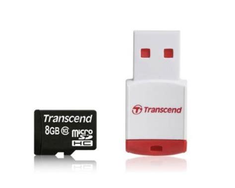 Transcend Microsd 8gb transcend 8gb microsdhc class 10 with p3 card reader premium ebuyer
