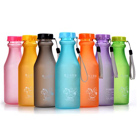 Promo Silicone Water Bottle 500 Ml 1 Wholesale Promotional Plastic 500ml Soda Water