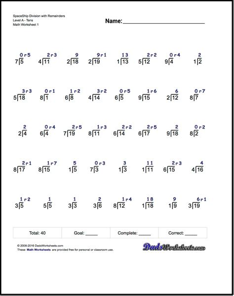 worksheet division printables worksheet worksheet