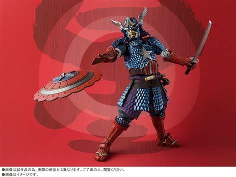 Topeng Perisai Capt Amerika captain america til sebagai samurai dalam figure terbaru bandai