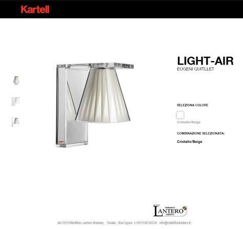kartell illuminazione kartell illuminazione lada da parete light air applique