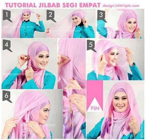 Tutorial Jilbab Segi Empat Simple | 425 best images about hijab tutorials ideas on pinterest
