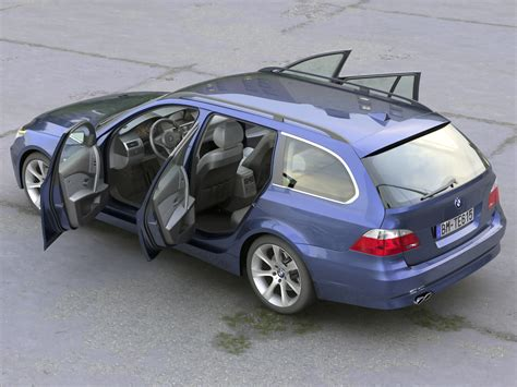 Bmw 5 Series Models by Bmw 5 Series Touring 2006 3d Model Flatpyramid