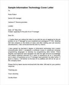 Informatics Cover Letter by Sle Information Technology Cover Letter Template 8 Free Documents In Pdf Word