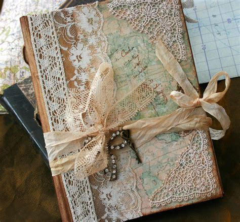 Handmade Wedding Guest Book - wedding guest book our journey of vintage style