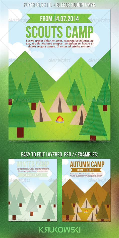 Scouts Summer C Flyer Print Templates Flyer Size And Background Banner Scout Flyer Template